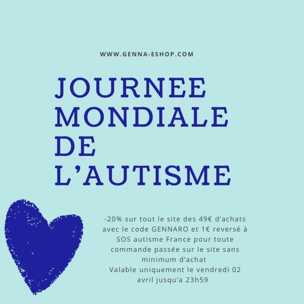 Dans le cadre de la Journée Mondiale contre l'autisme, Genna-EShop propose une réduction et un don
