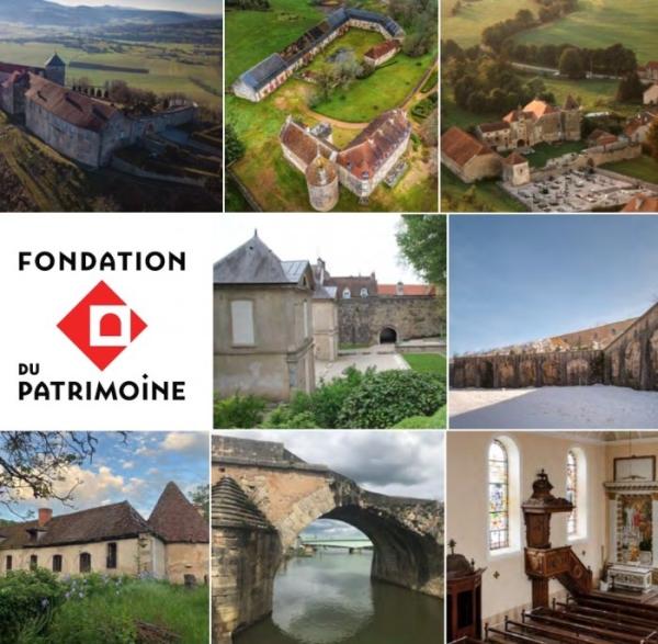 FONDATION DU PATRIMOINE - 8 sites sont retenus en Bourgogne - Franche-Comté