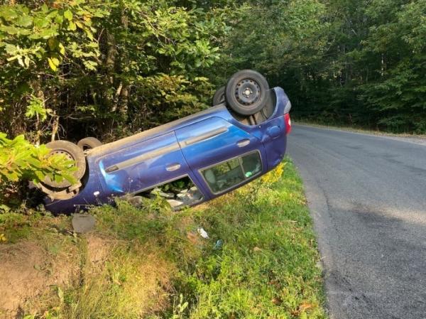 Violente perte de contrôle pour une automobiliste