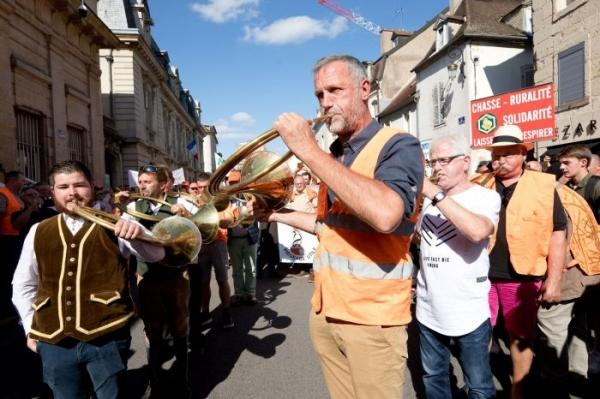 A Dijon, les chasseurs ont donné de la voix