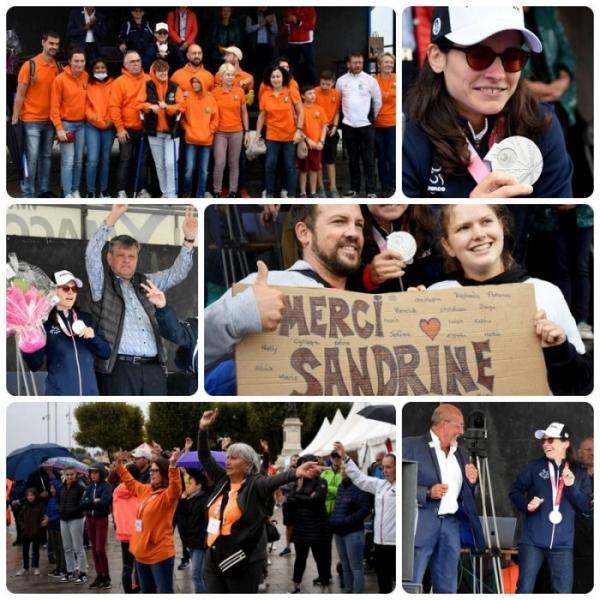 Un bel hommage à Sandrine Martinet porte drapeau et médaillée d'argent aux Jeux Paralympiques