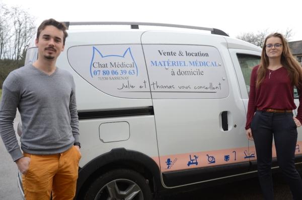 A 21 ans, Julie et Thomas quittent Chartres et lancent Chat Médical sur la région de Chalon sur Saône
