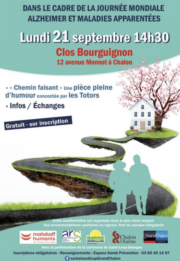 France Alzheimer vous donne rendez-vous à Chalon sur Saône le 21 septembre