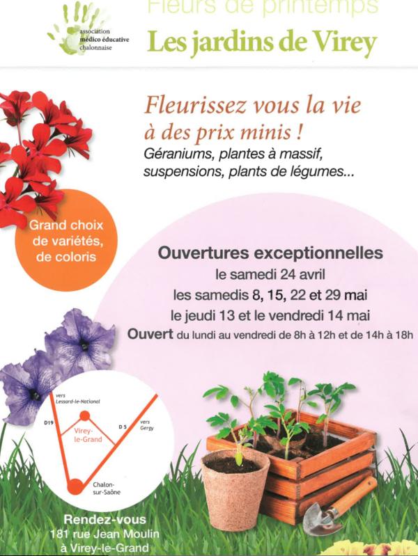 Fleurissez vous la vie à des prix minis avec les Jardins de Virey et l'Association Médico Educative Chalonnaise