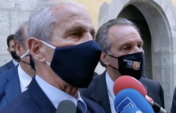 """La réaction du maire de Toulon Hubert Falco après sa démission du parti LR: """"Le président de mon parti a dit que j'étais un malfaisant. A partir de ce moment-là, je n'ai plus rien à faire dans ce parti""""."""