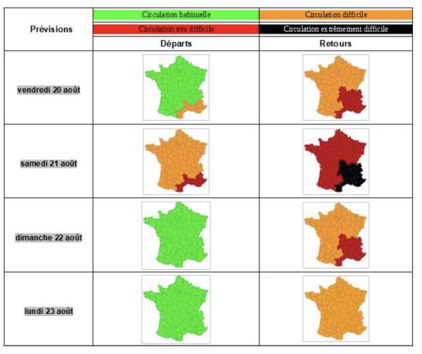 CIRCULATION ROUTIERE - Bison Futé annonce du rouge... et beaucoup de noir sur les routes ce week-end
