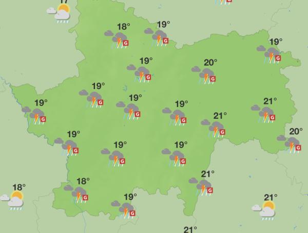Une fin de journée mouvementée en Saône et Loire ?