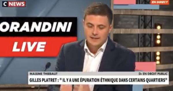 Le Chalonnais Maxime Thiébaut tacle le Chalonnais Gilles Platret... sur CNEWS
