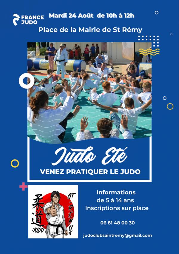 """Découverte et Initiation du Judo sur la """"place à l'été"""" de St Rémy"""