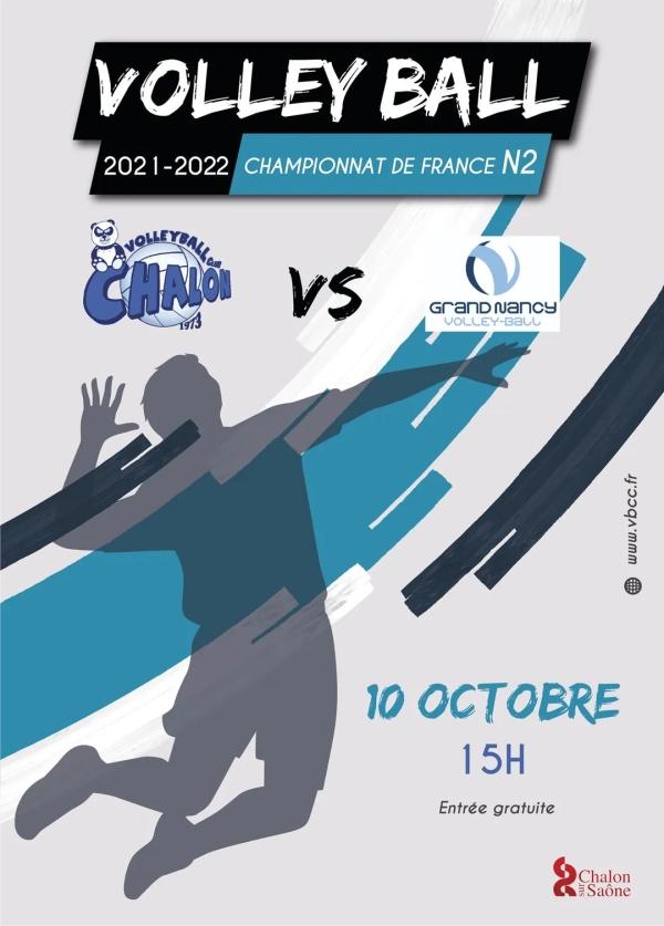 VOLLEY-BALL CHALON - Chalon sur Saône accueille Nancy ce dimanche