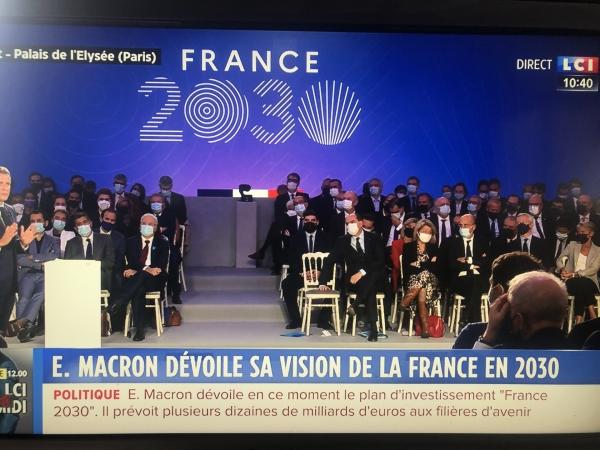 Emmanuel Macron affiche ses ambitions pour  la France de 2030