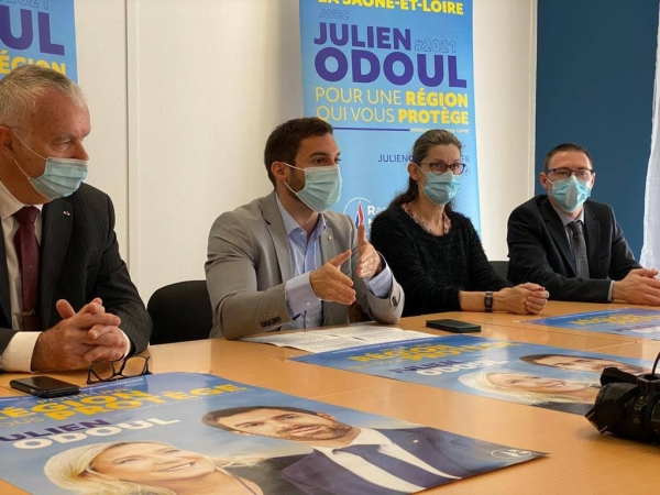 REGIONALES -  Julien Odoul a dévoilé 3 noms de la liste du Rassemblement Nationale en Saône-et-Loire