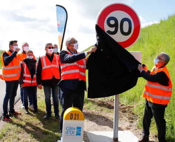 Retour aux  90 km/ en Saône et Loire - 7 routes départementales seront dévoilées en novembre
