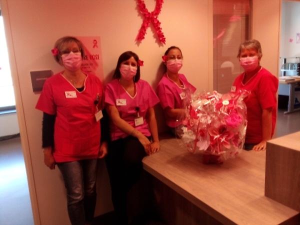 OCTOBRE ROSE - Une belle mobilisation en service urologie-gynécologie de l'hôpital de Chalon sur Saône
