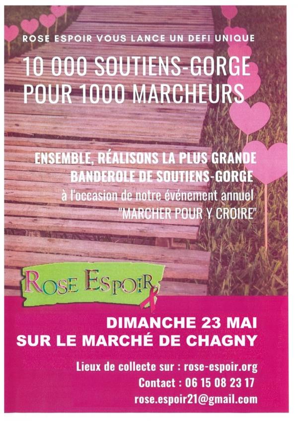 Rose Espoir vous donne rendez-vous sur le marché de Chagny