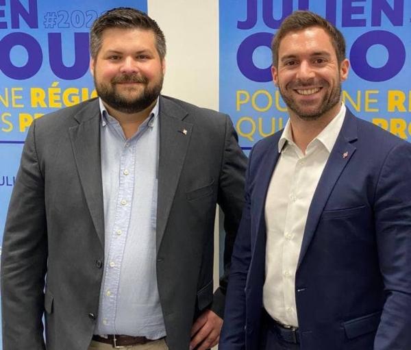 REGIONALES :  Julien Odoul présente les premières têtes de listes départementales du Rassemblement National