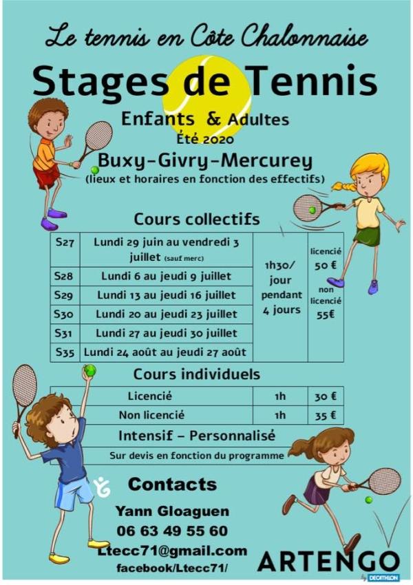 C'est l'heure des inscriptions pour les stages de tennis sur la Côte Chalonnaise