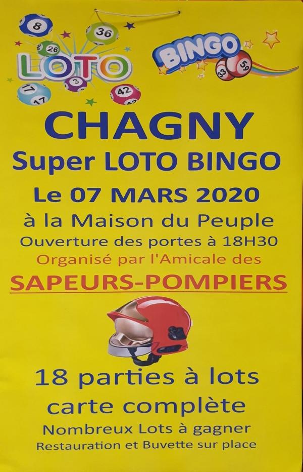 Grand loto de l'Amicale des Sapeurs Pompiers de  Chagny