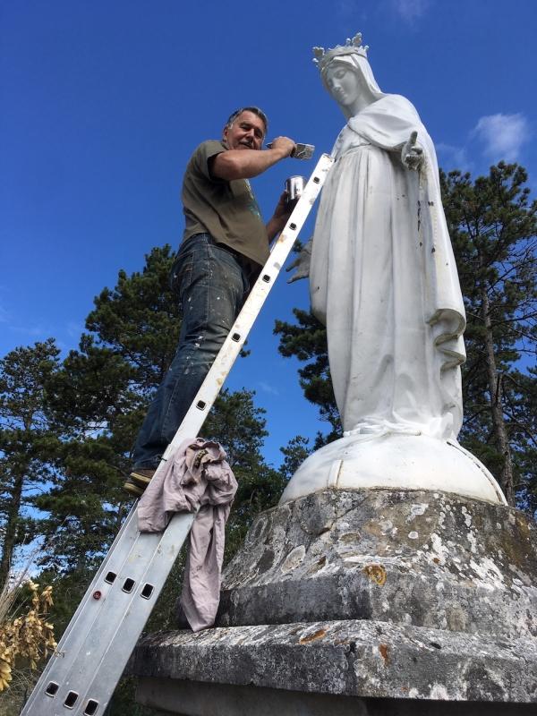 Blancheur retrouvée pour la Vierge des hauteurs de Mercurey