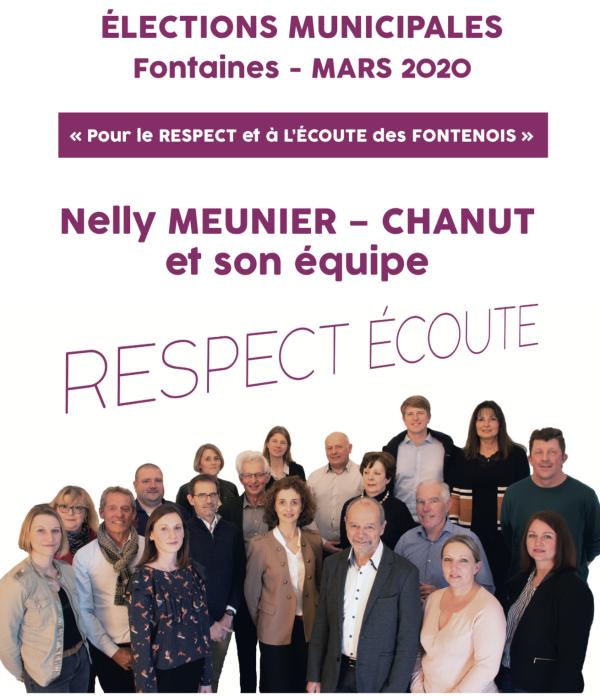 MUNICIPALES - A Fontaines, Nelly Meunier-Chanut et son équipe dévoilent le programme