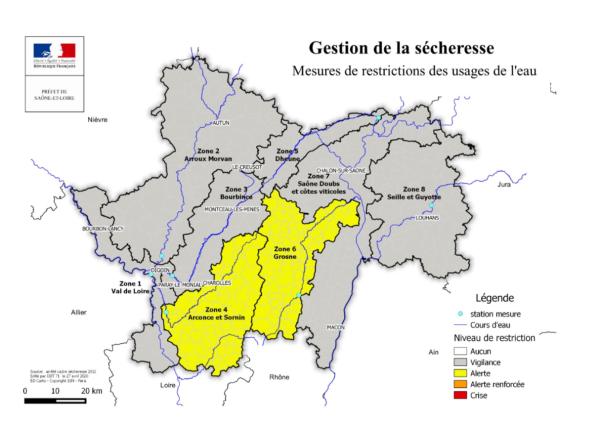 Une nouvelle sécheresse se profile en Saône-et-Loire – Mise en œuvre de premières mesures de restriction des usages de l'eau