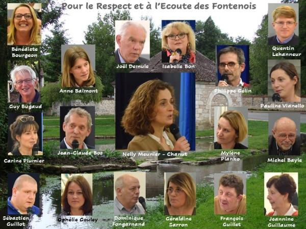 """MUNICIPALES - """"Pour le respect et à l'écoute des Fontenois"""" annonce"""