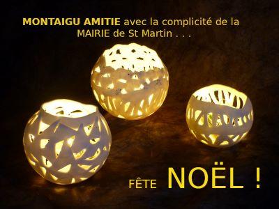 Marché de Noël proposé par Montaigu Amitiés