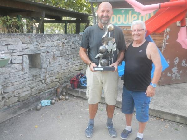 Jean-Philippe Blondet  remporte le trophée 2020 du Maître joueur de la Boule d'Or Chalonnaise