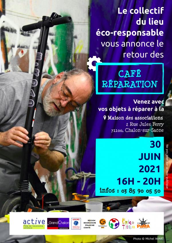Le grand retour des Café-Réparation le 30 juin 2021