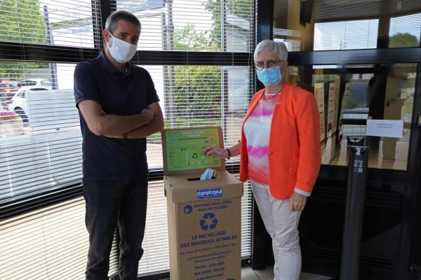 Champforgeuil, une commune de plus à collecter les masques chirurgicaux usagés.