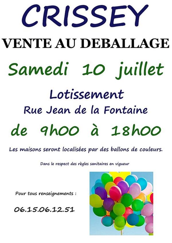 Grand déballage rue Jean de la Fontaine à Crissey