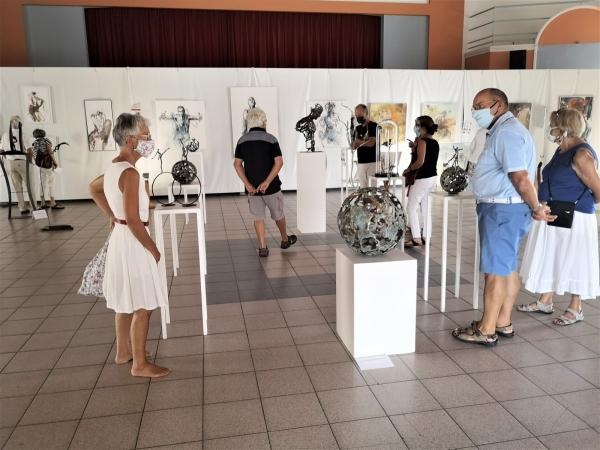 Art contemporain Conflu'Art aux anciennes halles de Verdun-sur-le-Doubs jusqu'au 27 août