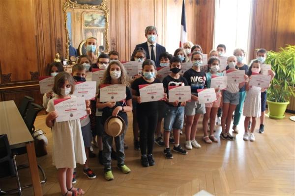 Liste des 42 élus au 6ème Conseil municipal des enfants de Chalon-sur-Saône
