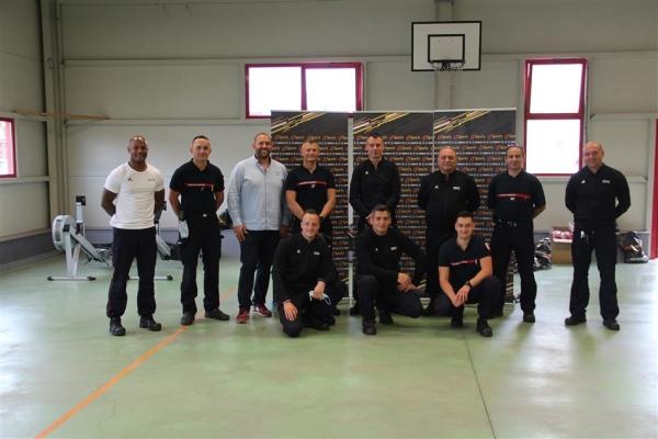 Réception de nouvelles tenues de sport pour les sapeurs-pompiers de Chalon-sur-Saône
