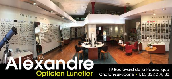 """Votre opticien chalonnais vous accueille dans ses deux enseignes : """"Alexandre Opticiens"""" et """"À première Vue"""""""