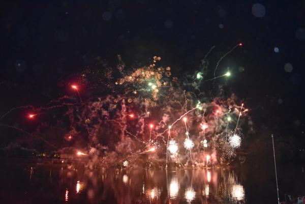 Beau feu d'artifice à Chalon-sur-Saône