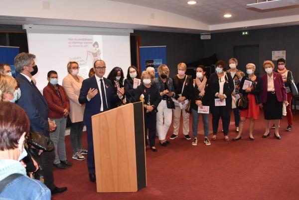 Lancement d'octobre rose 2021 : Déjà une bonne nouvelle, la marche 'La Chalonnaise' aura bien lieu