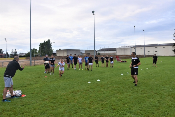 Beaucoup de joueurs séniors aux reprises des entrainements du RTC (Rugby Tango Chalonnais)