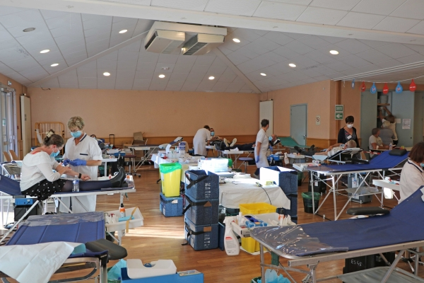 88 donneurs présentés à la collecte de sang à Virey le Grand.