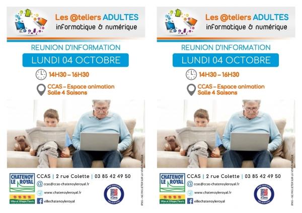 Ateliers Adultes au CCAS : se tenir informer sur le numérique et l'informatique