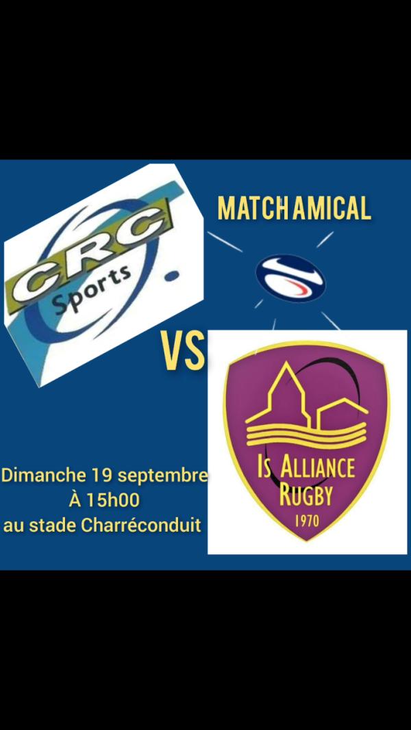 Rugby : le CRC ouvre sa saison par un match amical contre Is sur Tille.