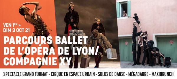 Le Ballet de l'Opéra de Lyon et la Compagnie XY vous embarque avec eux pour ce premier week-end d'octobre !