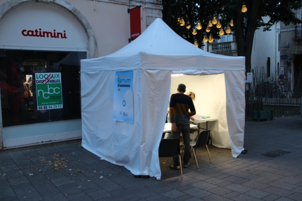 84 autotests réalisés la semaine dernière à Chalon-sur-Saône