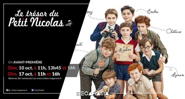 Affiche Mégarama Chalon de l'avant-première de Le Trésor du petit Nicolas