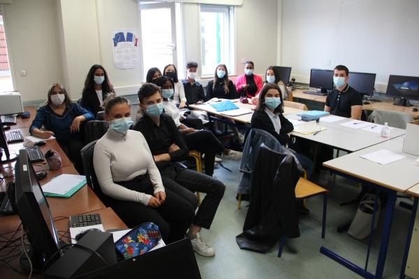 Mise en situation d'entretien d'embauche au lycée Émiland Gauthey