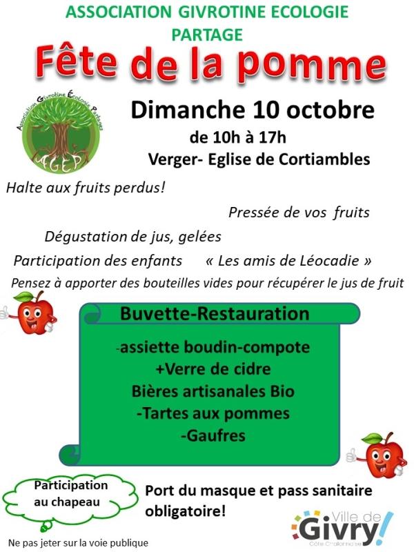 Fête de la pomme à Givry ce dimanche