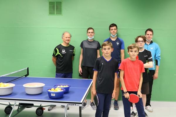 Reprise des cours école du tennis de table de Châtenoy le royal