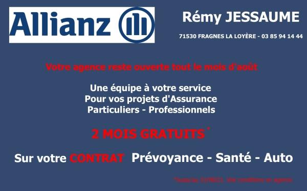 Votre assureur de proximité Allianz Rémy Jessaume reste ouvert tout l'été !