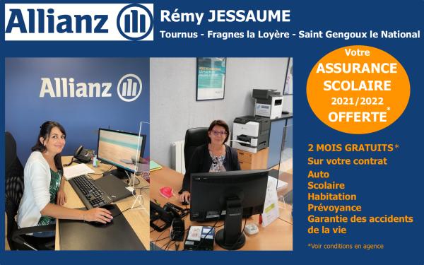 Votre assureur de proximité Allianz Rémy Jessaume, une équipe à votre service, à Fragnes la Loyère, mais aussi à Tournus et Saint Gengoux le National !