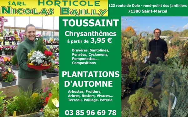 Nicolas Bailly Horticulteur : du choix pour la Toussaint et vos plantations d'automne avec les conseils avisés de Nicolas et le talent de Claire en prime !